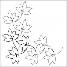 Fall leaves clipart corner black outline