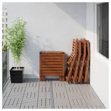 Runnen Floor Decking Outdoor Brown Stained by äpplarö Table And 4 Folding Chairs Outdoor äpplarö Brown
