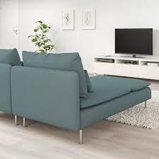 söderhamn 2er sofa mit récamiere finnsta türkis ikea schweiz