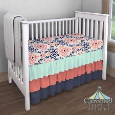 Teal And Coral Baby Bedding by Nursery Beddings Navy And Teal Baby Bedding As Well As Navy Teal