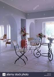 Wrought Iron Table And Chairs In Open Plan Dining Area In ...