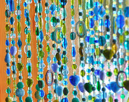 Glass Bead Curtains For Doorways by Beaded Door Curtain Etsy