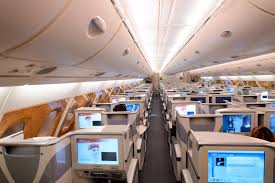 Emirates Airbus A380 Business Class Interior Editorial Stock Image