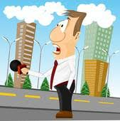 Breaking News Cartoon Reporter With Microphone