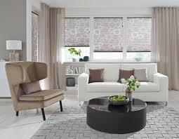 wohnzimmer plissee hellbraun vielfältige plissees