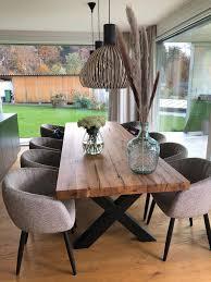 massivholztisch holztisch tisch holz rustikal tischgestell