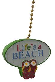 lifes a beach ceiling fan pull light chain extender extension