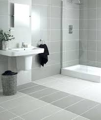 Grey Bathroom Tile Floor Tiles White Large