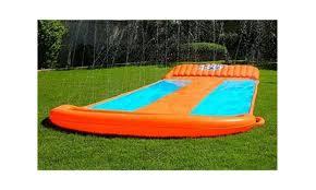 Water Slide Triple Inflatable Pool Kids Park Backyard Play Fun Outdoor