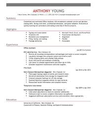 Resume Templates For Office Assistant Example Of A Examples Resumes Jobs