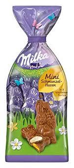 milka mini schmunzelhasen 3 fach sortiert teilweise gefüllt 120g