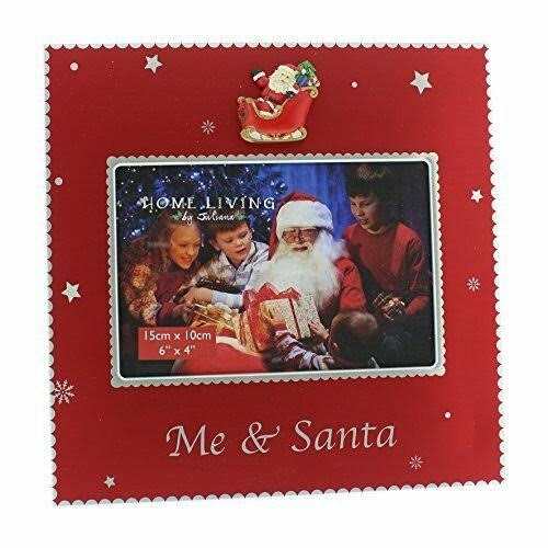 Widdop Me and Santa Silver Plated 6x4 Picture Frame