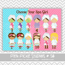 Spa Party Personalized Party Invitation