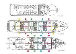 Norwegian Pearl Deck Plan 5 by Croatia Cruises Dalmatian Coast Gulet Ship Detail Cruises