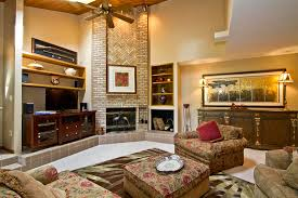 Charming Living Room With Rustic Accent On Floral Couches In Incredible Also Modern Style For Elegant