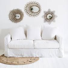 cap canapé canape blanc avec canapé déhoussable en froissé cap breton