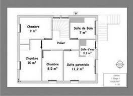 plan maison 4 chambres etage plan maison plain pied 4 chambres avec suite parentale plan