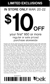 Belk Coupons - $10 Off $50 At Belk, Or Online Via Promo Code ...