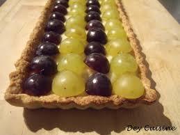 dessert aux raisins frais dey cuisine tarte bicolore aux raisins