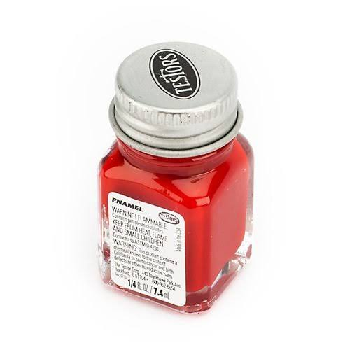 Testors Enamel Paint - Dark Red, 1/4oz