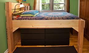 low loft bed plans bed plans diy blueprints