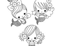 Free Coloring Pages Of Cute Baby Mermaids