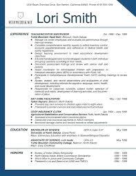 Sample Teachers Resume