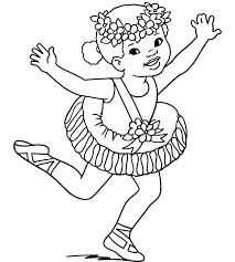 Ballerine Halloween Costume Coloring Pages Printable Kids