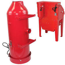 Central Pneumatic Blast Cabinet by 6 Central Pneumatic Blast Cabinet Dust Collector Used