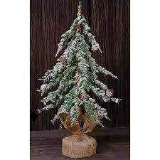 18 Artificial Icy Wispy Tabletop Christmas Tree