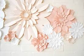 Handmade Three Colour Paper Flower Wall Display By May