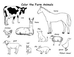 Coloring Pages Animals Farm Pic Photo Animal Pdf