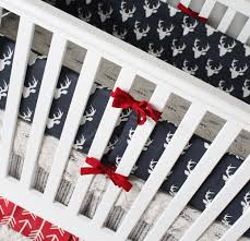 navy and red crib bedding giggle six baby