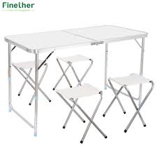 Finether Portable Ultralight Height Adjustable Aluminum Table Folding  Outdoor Table Stool Set For Dining Picnic Camping BBQ Gocamp Portable Folding Table Chair Set Outdoor Camping Pnic Bbq Stool Max Load 120kg From Xiaomi Youpin 10pack Advantage 5 Ft Round White Plastic 10dadycz152rgwgg Granite Chairs Transportation Kit For Diner En Blanc Beach Table And Chair Set Cosco 5piece Square Intellistage Lweight 4x8 Dj Platform Package With 30 Replace Your Old Folding Tables Chairs Ace Hdware On Hand Expand Modern Ding Phi Villa 3 Piece Pink Patio Steel Chairsmetal Bistro Fniture The Alzare Raising Coffee Lifetime 5piece Safe Foldinhalf