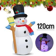 120cm Noël Gonflable Christmas Snowman Bonhomme De Neige Noel