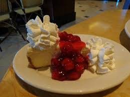 The Cheesecake Factory Cheesecake with cherries