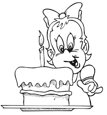 Birthday Coloring Page One Year Old Girl Printables