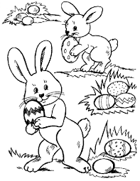 Coloring Pages Of Easter Bunnies And Eggs Happy 2017