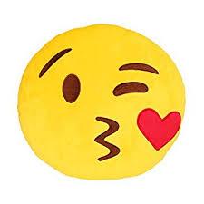 Amazon Q s 32cm 13IN Emoji Smiley Emoticon Yellow Round