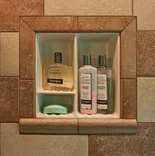 recessed bathroom tile niches traditional showers dc metro
