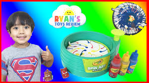 Crayola Wooden Table And Chair Set by Crayola Spin Art Maker Paint Toy For Kids Disney Cars Toys Ryan