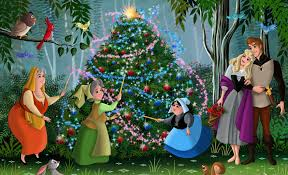 Sleeping Beauty Walt Disney Christmas Tree Fanart Movie Animated Film Fairytale Princess Aurora Phillip Forest Share The Image