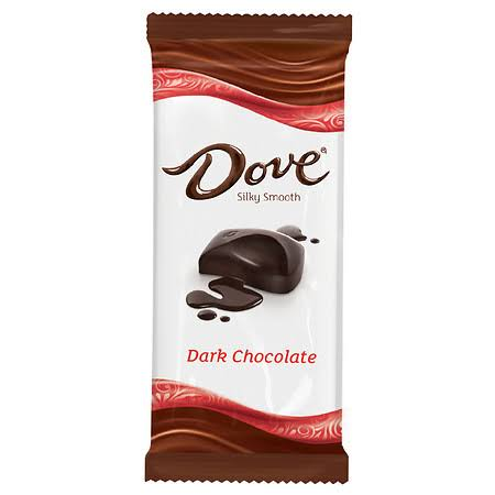 Dove Silky Smooth Dark Chocolate, 4 Pack - 3.3 oz