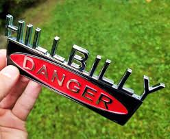 100 Redneck Truck Stickers HILLBILLY EDITION CAR TRUCK FORD EMBLEM LOGO DECAL SIGN CHROME