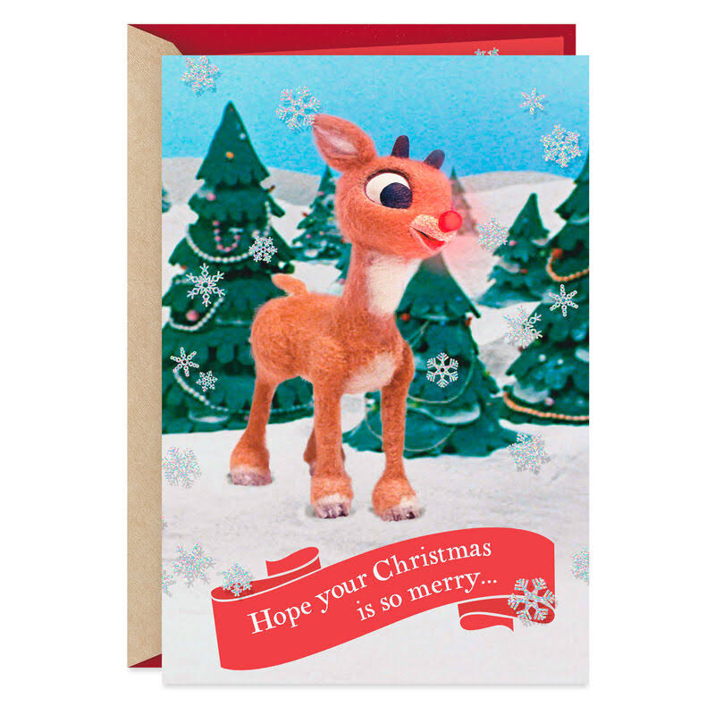 Rudolph The Red-Nosed Reindeer Goes Down in History Christmas Card