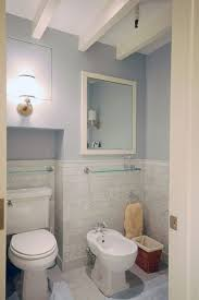 wonderful marble subway tile with toilet room sconce