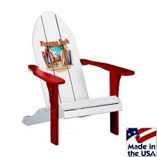 panama jack chairman balcony chair in cypress wood with red finish