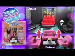Barbie Living Room Furniture Set by Barbie Living Room Set By Gloria Review U0026 Assembly Youtube