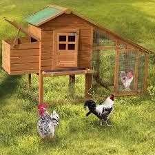 Shop Gymax Wooden Large Rabbit Hutch Chicken Coop Bunny Animal Hen