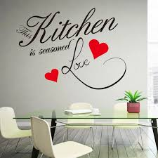 wand aufkleber zitieren küche herz hause esszimmer große dekor aufkleber sprüche 8243